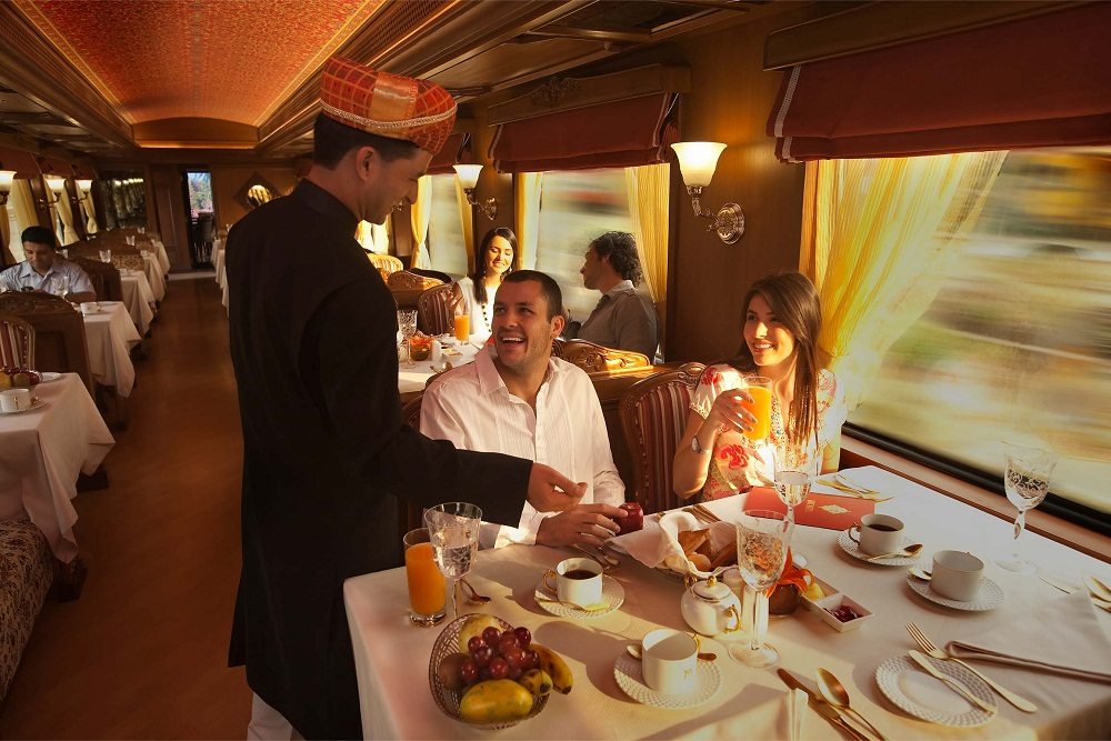 Dishes in Maharaja Express