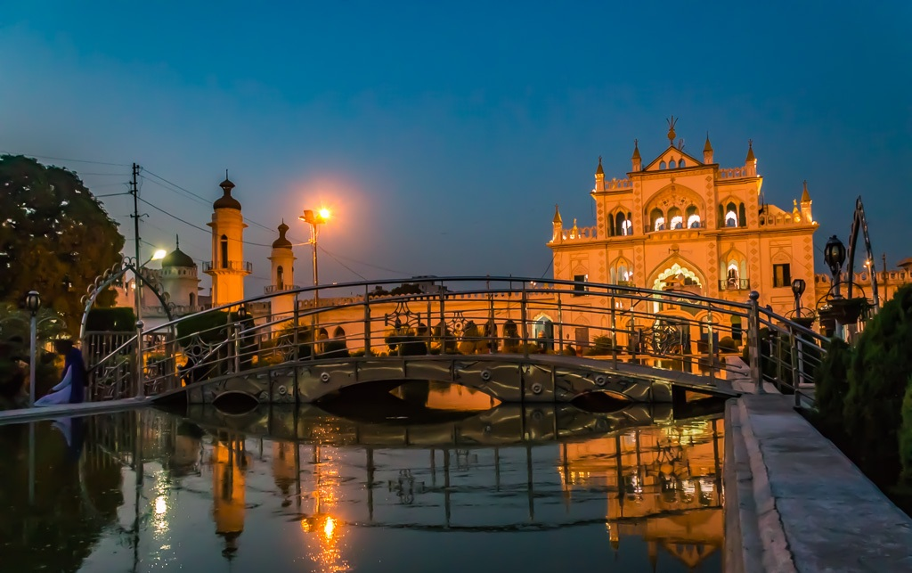 Charbagh within the Chhota Imambara