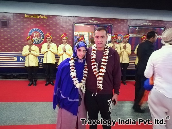 Guest Welcome at Maharaja Express Train