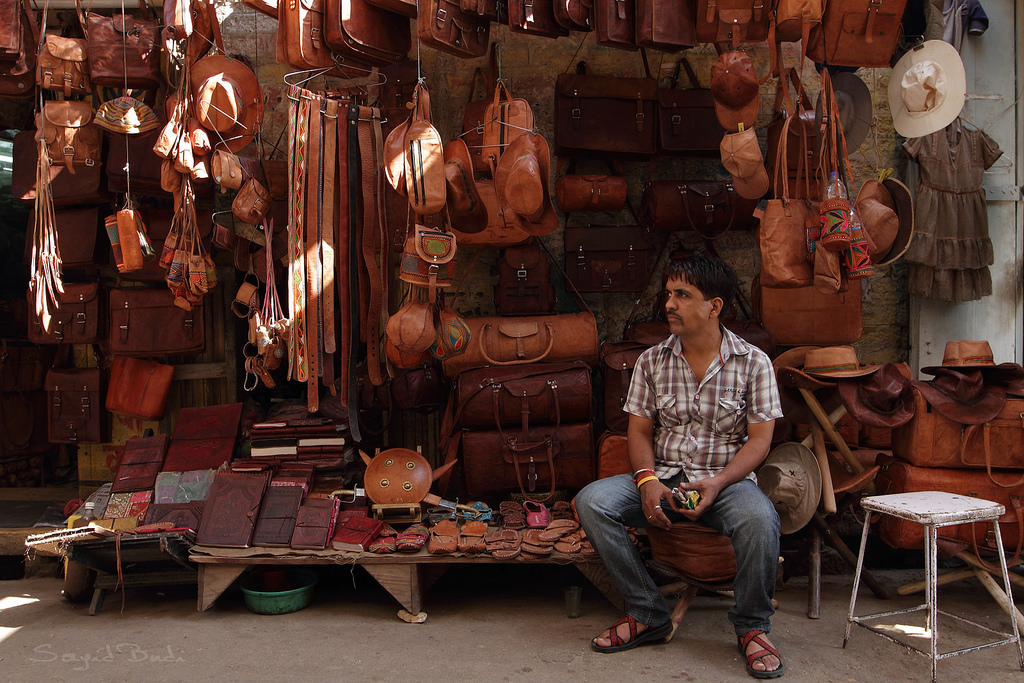 Camel Leather Jaisalmer Souvenirs Shopping