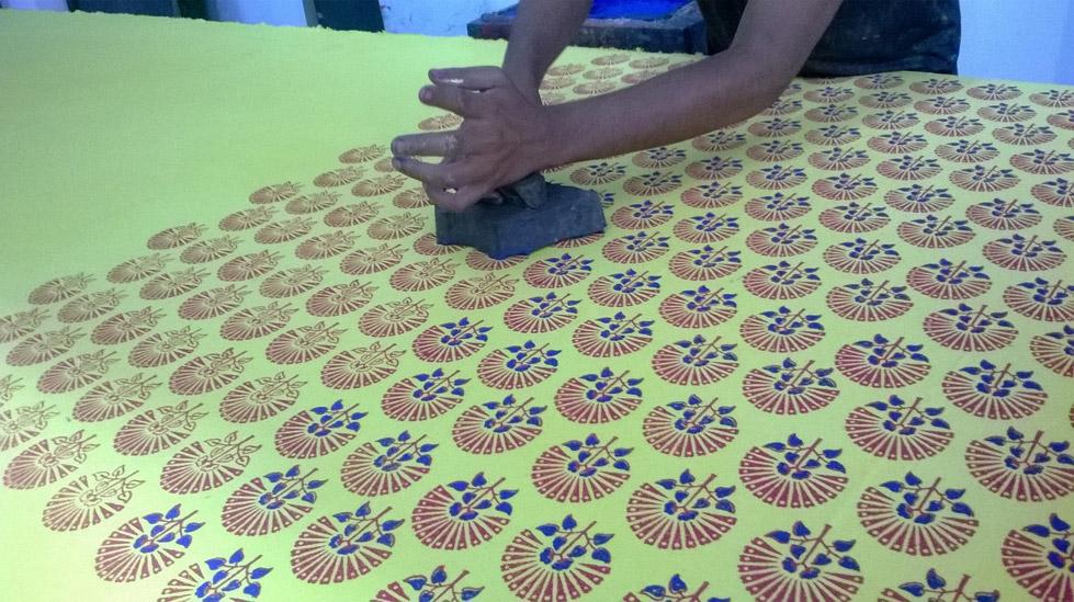 Hand Block Print in Rajasthan