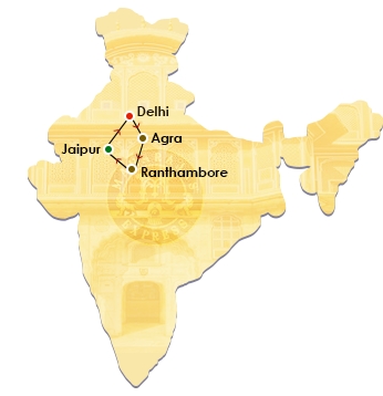 Gems of India Map